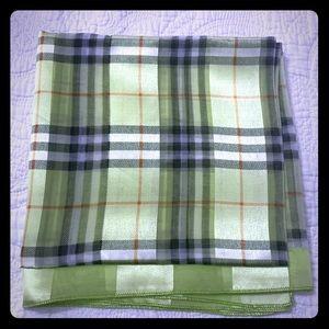 Vibrant in pistachio green checkered scarf